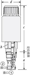 电磁方向阀2位2口,提动式